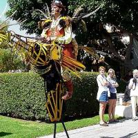 Stilt Walking Bird Guy