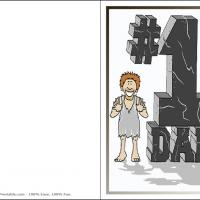 Printable Stone Age Dad - Printable Fathers Day Cards - Free Printable Cards