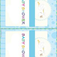 Printable Stork with Baby - Printable Baby Cards - Free Printable Cards