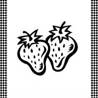 Strawberries Flash Card