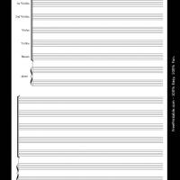 Printable string orchestra with piano - Printable Sheet Music - Free Printable Music