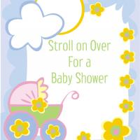 Printable Stroller Baby Shower Invitation - Baby Shower and Christening Invitations Cards - Free Printable Invitations