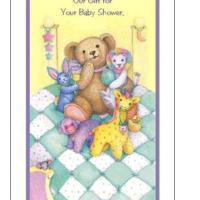 Printable Stuffed Animals Baby Shower Card - Printable Baby Cards - Free Printable Cards