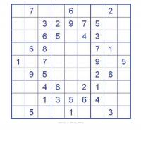 Printable Sudoku For Kids In Blue Box - Printable Sudoku - Free Printable Games