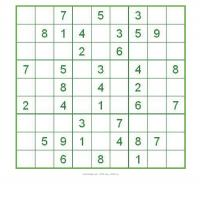 Printable Sudoku For Kids In Green Box - Printable Sudoku - Free Printable Games
