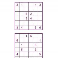 Sudoku  Kids Printable on Printable Sudoku For Kids In Violet Box   Freeprintable Com