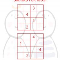 Printable Sudoku For Kids Red Box - Printable Sudoku - Free Printable Games
