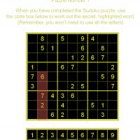 Printable Sudoku With Code Word - Printable Sudoku - Free Printable Games