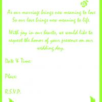 Printable Summer Green Wedding Invite - Printable Wedding Invitation Cards - Free Printable Invitations