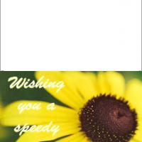 Printable Sunflower For Speedy Recovery - Printable Get Well Cards - Free Printable Cards