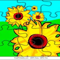 Printable Sunflower Jigsaw Puzzle - Printable Puzzles - Free Printable Games