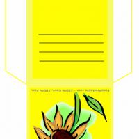Printable Sunflower Teabag Envelope - Printable Card Maker - Free Printable Cards