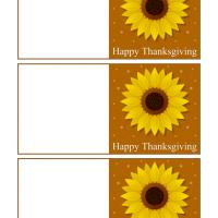 Printable Sunflower Thanksgiving Mini Cards - Printable Greeting Cards - Free Printable Cards