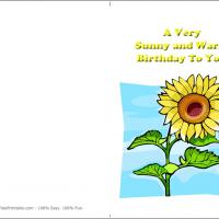 Printable Sunflowers - Printable Birthday Cards - Free Printable Cards