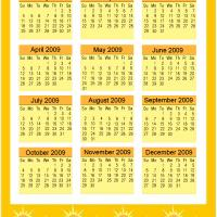 Printable Sunny 2009 Calendar - Printable Calendar Pages - Free Printable Calendars