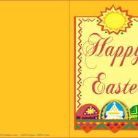 Printable Sunny Easter Card - Printable Easter Cards - Free Printable Cards