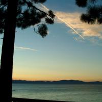 Sunset At Lake Tahoe In California