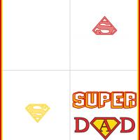Printable Super DAD - Printable Fathers Day Cards - Free Printable Cards