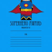Printable Superhero Award - Printable Awards - Misc Printables