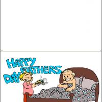 Printable Surprise Breakfast On Father's Day - Printable Fathers Day Cards - Free Printable Cards