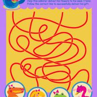 Printable Swan Swim Maze - Printable Mazes - Free Printable Games