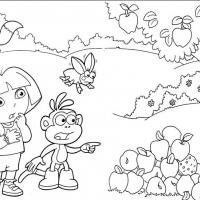 Printable Swiper Swipes the Beehive - Printable Dora The Explorer - Free Printable Coloring Pages
