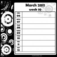 Swirls 2011 Week 10 -  Calendar