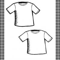 Printable Pair of T-Shirts Flash Card - Printable Flash Cards - Free Printable Lessons