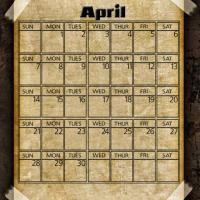 Printable Taped Parchment April 2013 - Printable Monthly Calendars - Free Printable Calendars