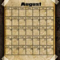 Printable Taped Parchment August 2013 - Printable Monthly Calendars - Free Printable Calendars