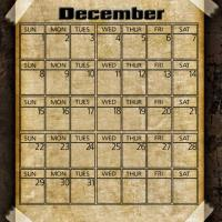 Printable Taped Parchment December 2013 - Printable Monthly Calendars - Free Printable Calendars