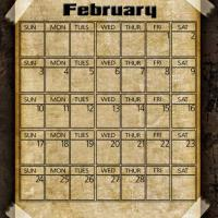 Printable Taped Parchment February 2013 - Printable Monthly Calendars - Free Printable Calendars