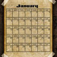 Printable Taped Parchment January 2013 - Printable Monthly Calendars - Free Printable Calendars