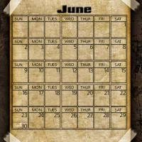 Printable Taped Parchment June 2013 - Printable Monthly Calendars - Free Printable Calendars