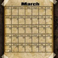Printable Taped Parchment March 2013 - Printable Monthly Calendars - Free Printable Calendars