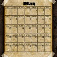 Printable Taped Parchment May 2013 - Printable Monthly Calendars - Free Printable Calendars