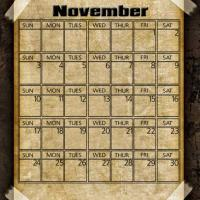 Printable Taped Parchment November 2013 - Printable Monthly Calendars - Free Printable Calendars