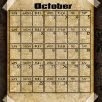 Printable Taped Parchment October 2013 - Printable Monthly Calendars - Free Printable Calendars