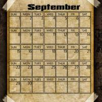 Printable Taped Parchment September 2013 - Printable Monthly Calendars - Free Printable Calendars
