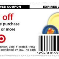 Target $3 Off Partyware