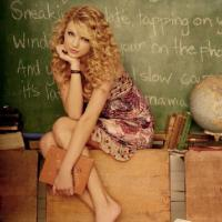 Taylor Swift In Front of the Blackboard