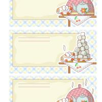 Tea Time Recipe Cards