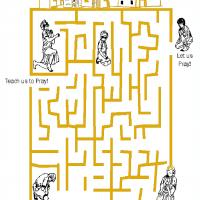Printable Teach Us To Pray Maze - Printable Mazes - Free Printable Games