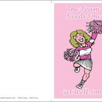 Printable Team Needs You - Printable Get Well Cards - Free Printable Cards