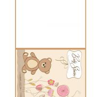 Teddy Bear &amp; Flowers Baby Shower Card