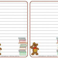 Printable Teddy Bear Stationary - Printable Stationary - Free Printable Activities