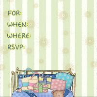 Teddy Fill-in Baby Shower Invitation