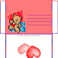Printable Teddy Hearts Envelope - Printable Card Maker - Free Printable Cards