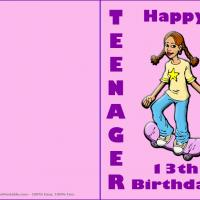 Printable Teenager Birthday Cards - Printable Birthday Cards - Free Printable Cards
