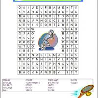 Tennis Word Search